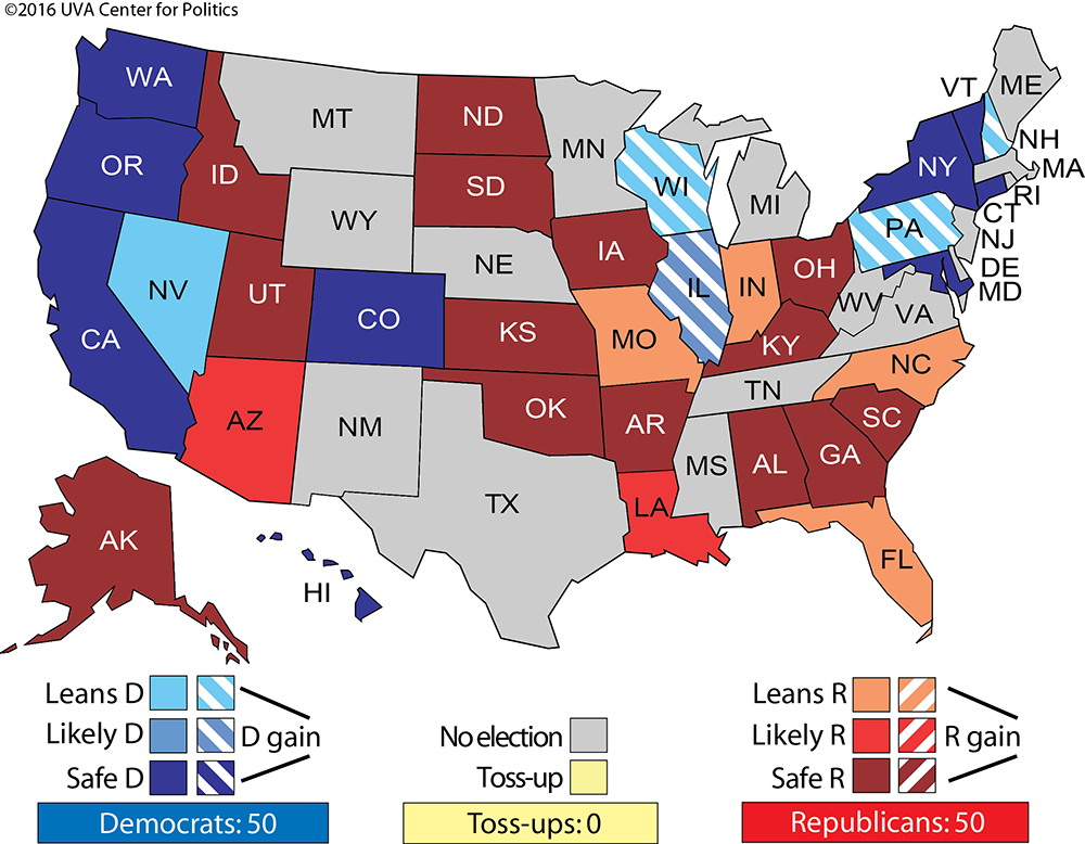 Us Senate Map 2016 2016 Senate – Sabato's Crystal Ball