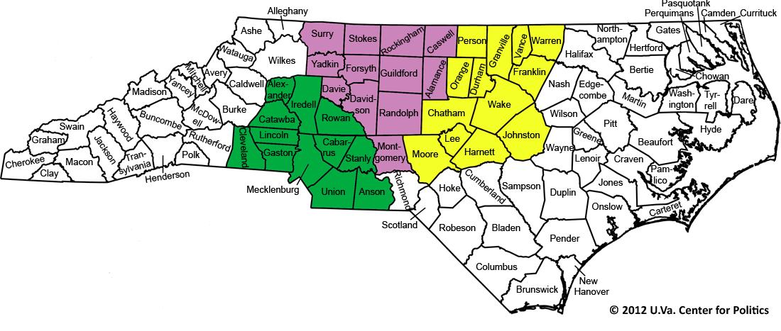 The Tar Heel State S Political Map Sabato S Crystal Ball