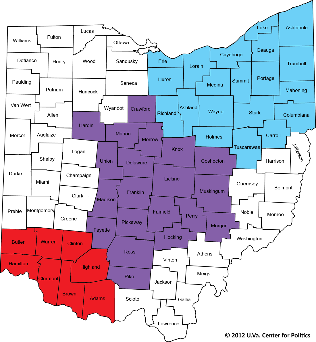 Picture of: The Buckeye State S Political Map Sabato S Crystal Ball