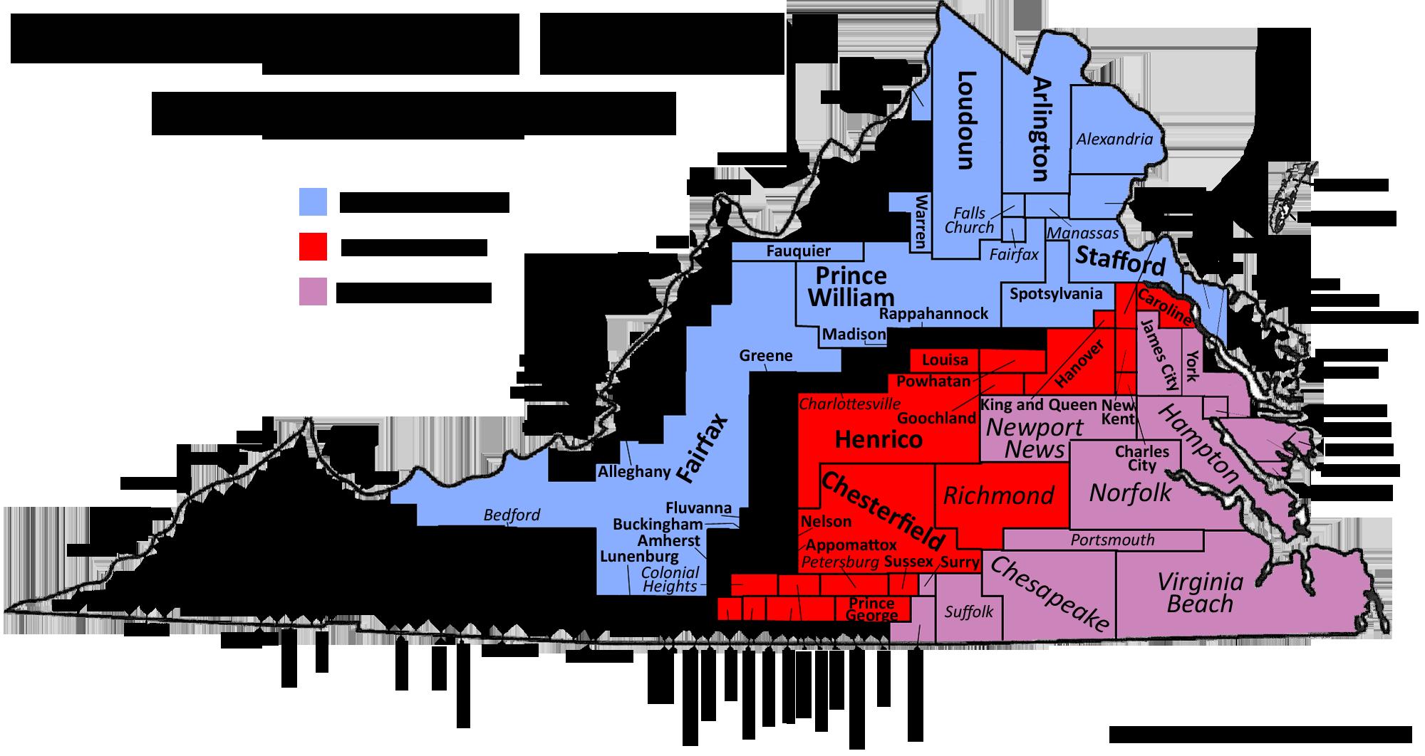 Map Virginia Cities fgcu map